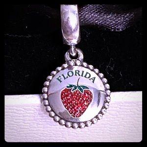 Pandora Florida Exclusive Strawberry Charm